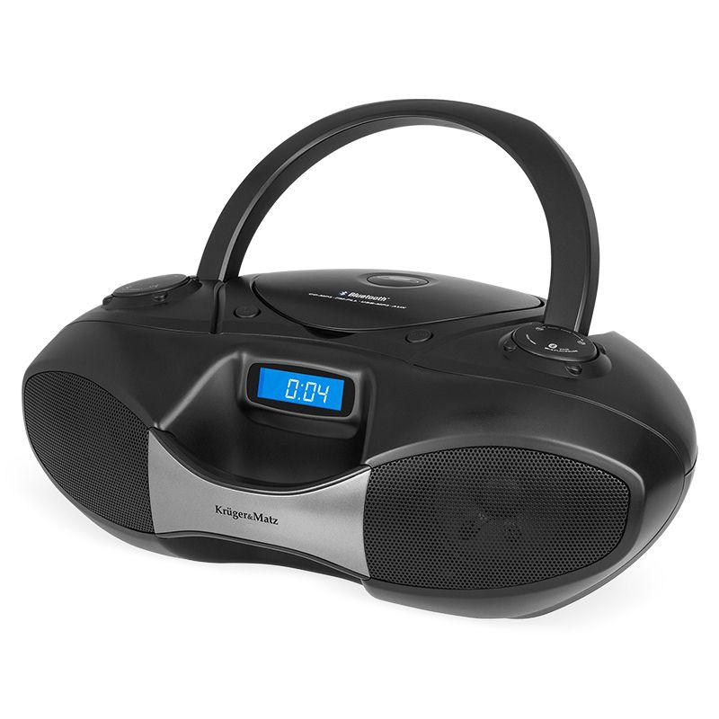 CD Player Boombox Kruger Matz, USB, FM, ecran LCD 2021 shopu.ro