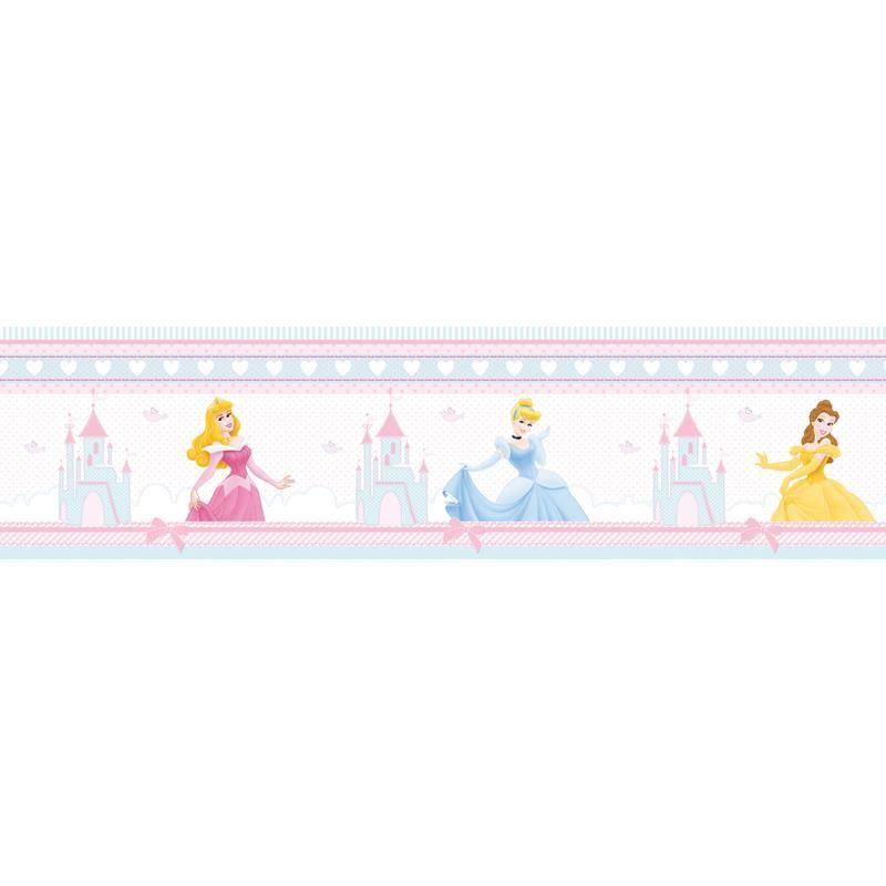 Bordura autoadeziva perete Princess Decofun, vinil, 5 m x 15.9 cm 2021 shopu.ro