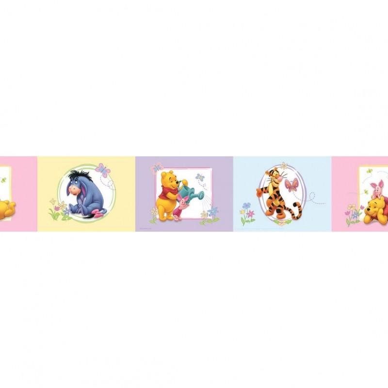 Bordura autoadeziva perete Winnie the Pooh, Decofun, vinil, 5 m x 10.6 cm 2021 shopu.ro