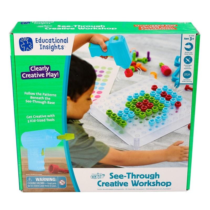 Bormasina Magica Atelier de creatie, 120 suruburi din plastic, 3 capete de schimb