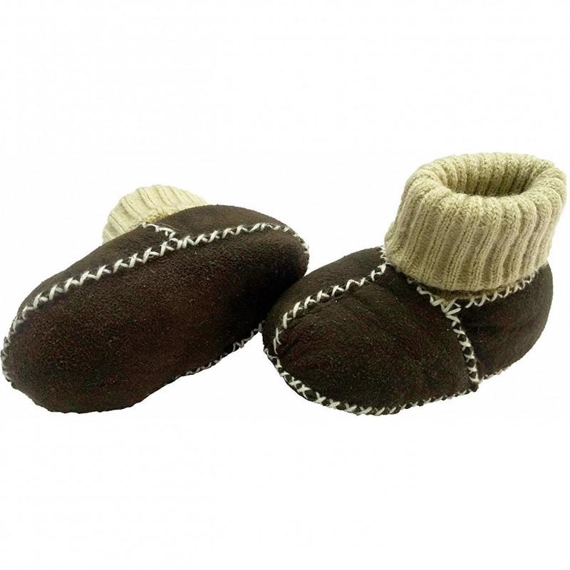 Botosei piele si blanita miel Altabebe, mansete tricotate, marimea 16, negru 2021 shopu.ro