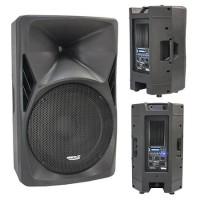Boxa activa, difuzor 38 cm, 8 Ohm, 300 W RMS, functie radio, redarea USB/SD