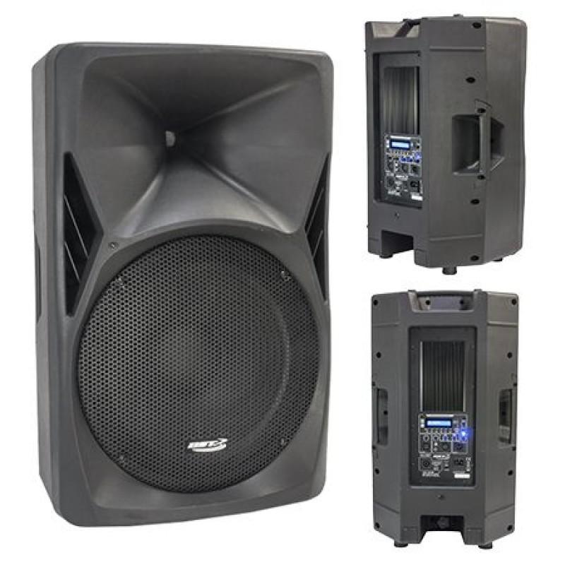 Boxa activa, difuzor 38 cm, 8 Ohm, 300 W RMS, functie radio, redarea USB/SD 2021 shopu.ro