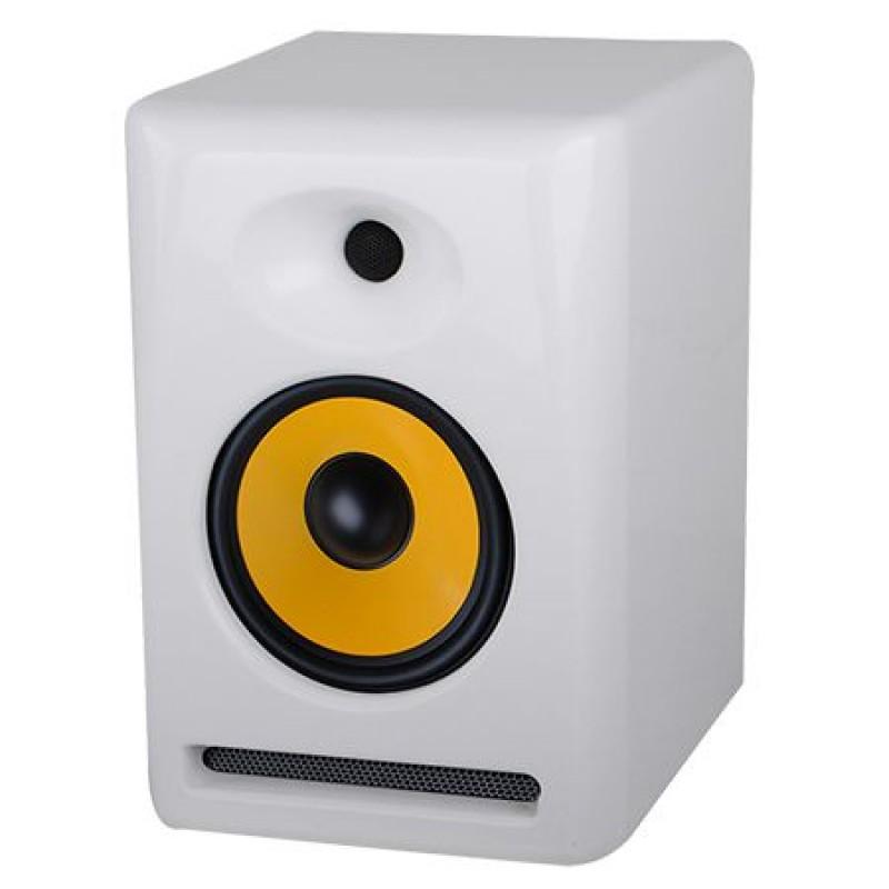 Boxa activa, 100 W, amplificare dubla, intrare RCA/XLR/Jack, Alb 2021 shopu.ro