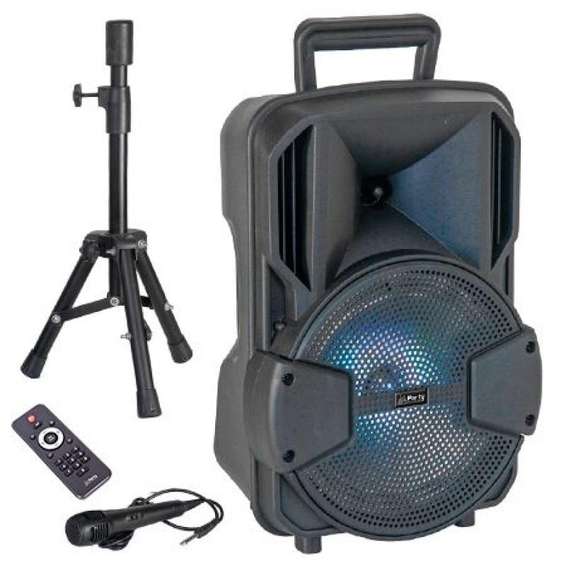 Boxa activa bluetooth LED, 300 W, acumulator 1800 mAh, USB, microfon inclus 2021 shopu.ro