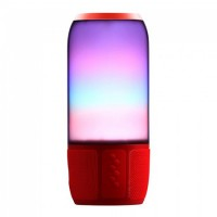 Boxa bluetooth, 2 x 3 W, 1800 mAh, intrare AUX, USB/MSD/AUX, LED RGB, Rosu