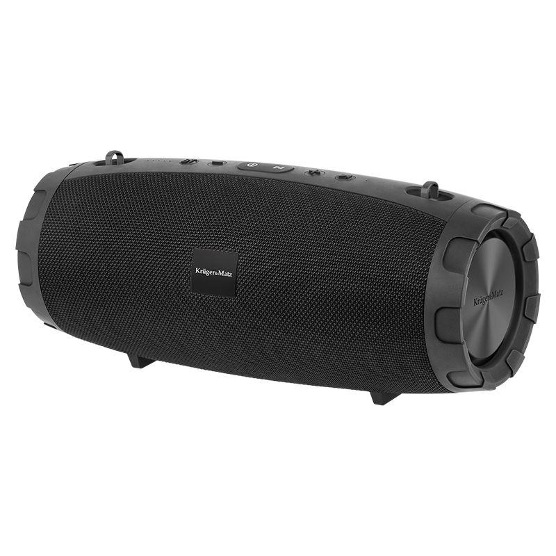Boxa portabila Bluetooth Explorer Kruger & Matz, USB, MicroSD, AUX, 2 x 6 W + 18 W, Negru 2021 shopu.ro