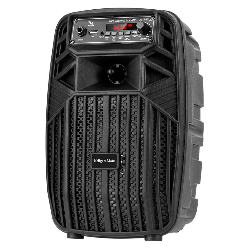 Boxa Bluetooth Mini Music Box Kruger & Marz, 10 W, 6.5 inch + 1 inch, AUX, USB 2.0, intrare microfon, Negru