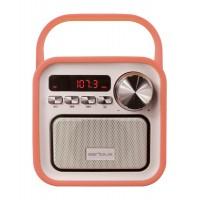 Boxa portabila Serioux Joy, Bluetooth, Radio FM, Micro SD, AUX, 5 W, 80 dB, Acumulator 2000 mAh, accesorii incluse, Portocaliu