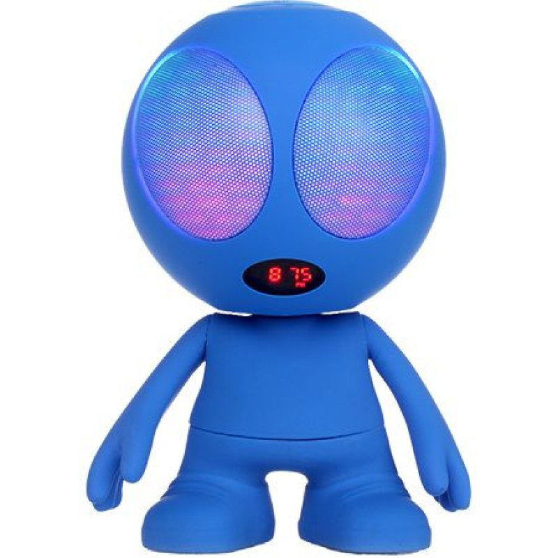 Boxa bluetooth portabila, model alien, MSD, FM, 10 W, Albastru 2021 shopu.ro