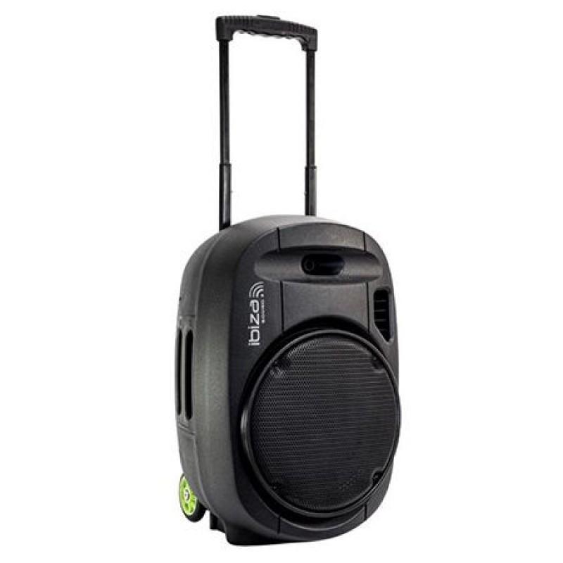 Boxa portabila tip troler, 350 W, USB/MP3, reglaj volum, telecomanda 2021 shopu.ro