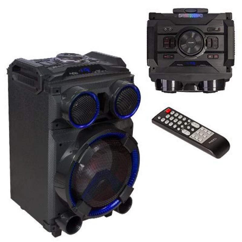 Boxa bluetooth portabila Ibiza Sound, 400 W, 12 V, AUX, microfon inclus, lumina LED 2021 shopu.ro