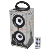 Boxa portabila Freesound Paris, 12 W, Bluetooth, radio FM, USB/AUX