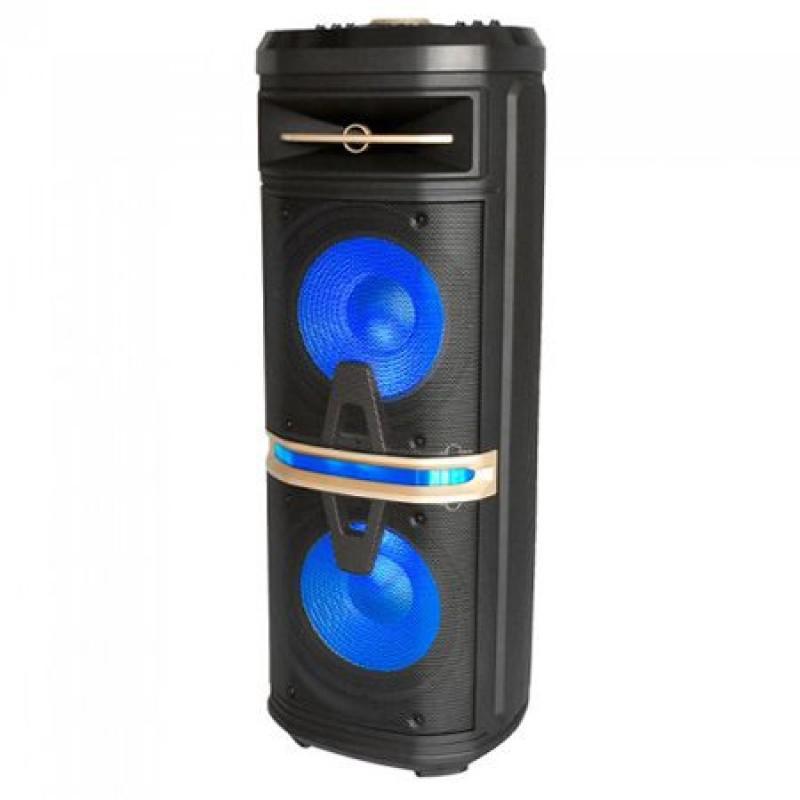 Boxa portabila, 25 cm, iluminata, 120 W RMS, negru