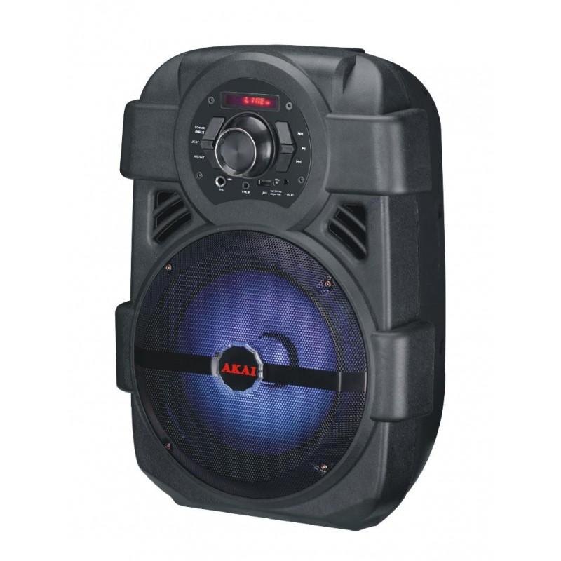 Boxa portabila AKAI ABTS808L, Bluetooth, USB, 85 dB, 10 W, 16000 Hz, Jack 3.5 mm, Acumulator 1200 mAh, Karaoke, Black