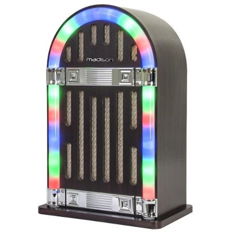 Boxa portabila Madison tip tonomat vintage, Bluetooth, AUX, 10 W