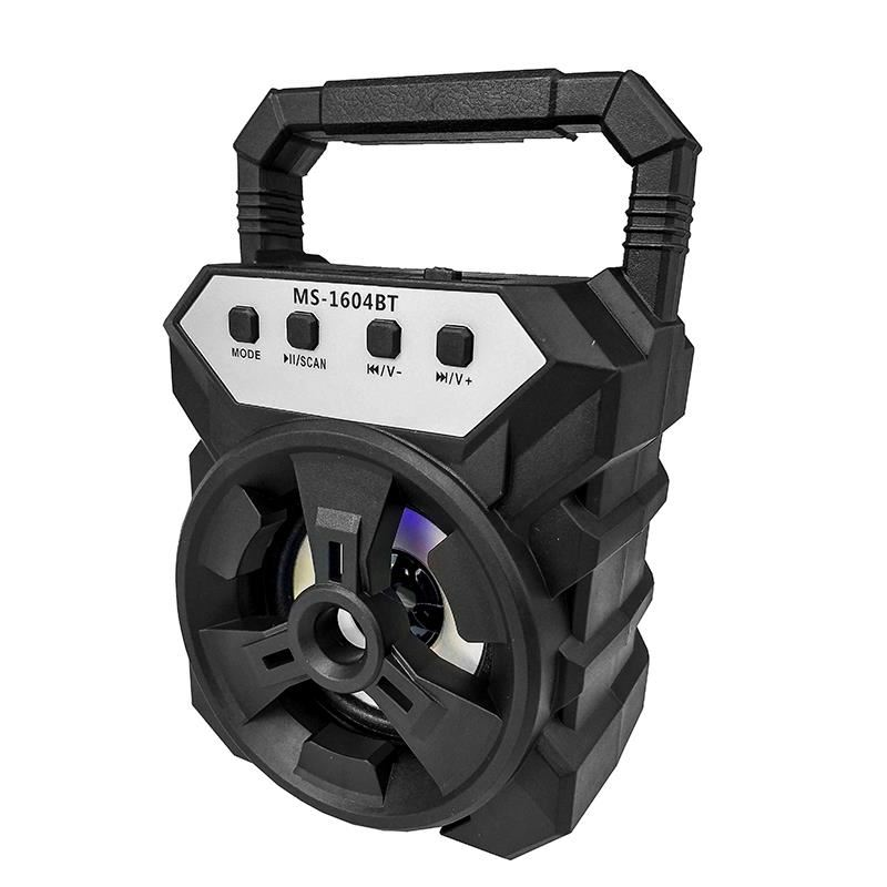 Boxa portabila Siegbert MS 1604 BT, 25 W, 800 mAh, USB, suport card SD, radio FM, lumini 2021 shopu.ro