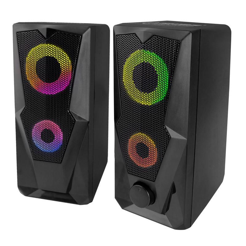 Boxe Rainbow Baila Esperanza, USB 2.0, 6 W, iluminare LED, jack 3.5 mm 2021 shopu.ro