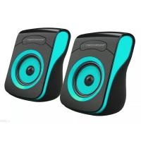 Boxe stereo 2.0 Flamenco Esperanza, 2 x 3 W, 4 oHm, iesire USB, Negru/Albastru