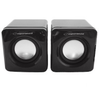 Boxe stereo 2.0 Leggiero Esperanza, 3 W, 4 Ohm, USB, Negru