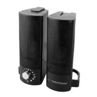 Boxe stereo 2.0 Lavani Esperanza, USB, 2 x 2.5 W, Negru