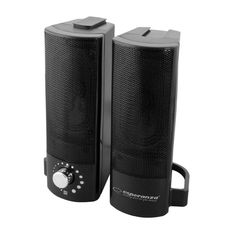 Boxe stereo 2.0 Lavani Esperanza, USB, 2 x 2.5 W, Negru 2021 shopu.ro