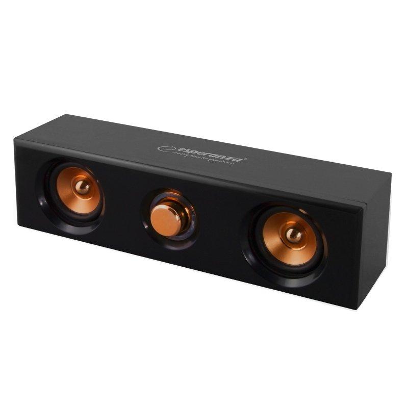 Boxe stereo 2.0 Tango Esperanza, USB, 2 x 2.5 W, 3 ohm, USB, Negru 2021 shopu.ro