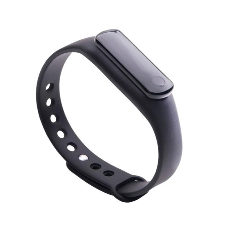 Bratara SmartFitness, 45 mAh, 37 x 10 x 14 mm, Bluetooth 4.0, curea silicon, Negru 2021 shopu.ro