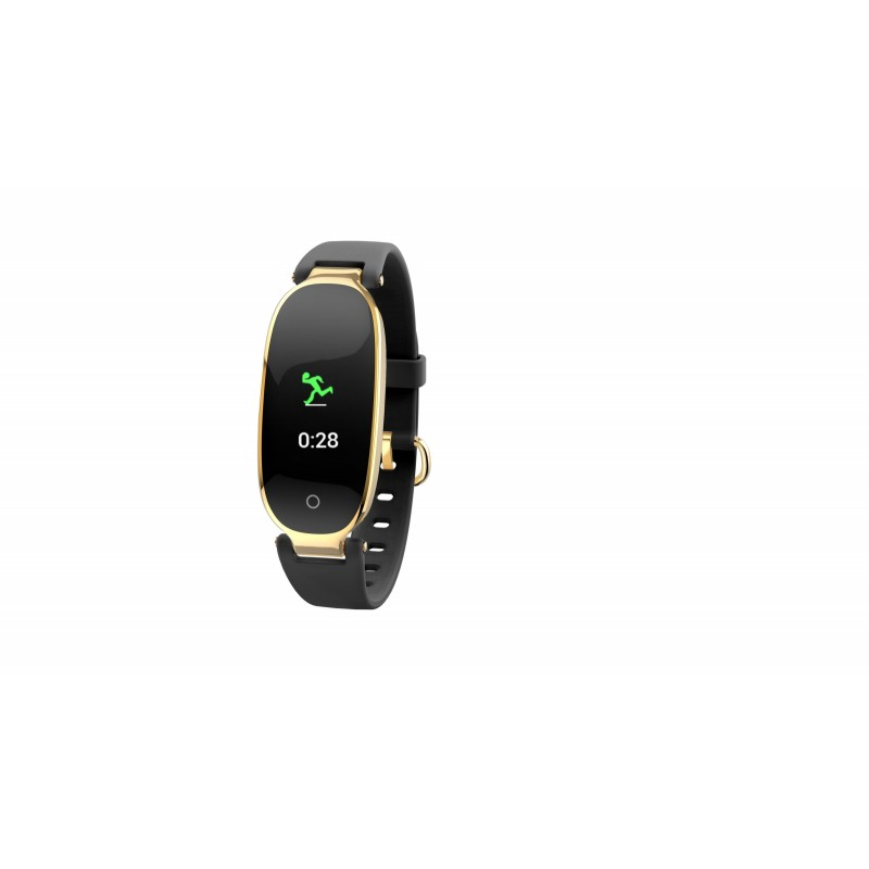 Bratara fitness E-Boda, 37 x 10 x 14 mm, display color, TFT, 0.96 inch, 90 mAh, Negru/Auriu 2021 shopu.ro