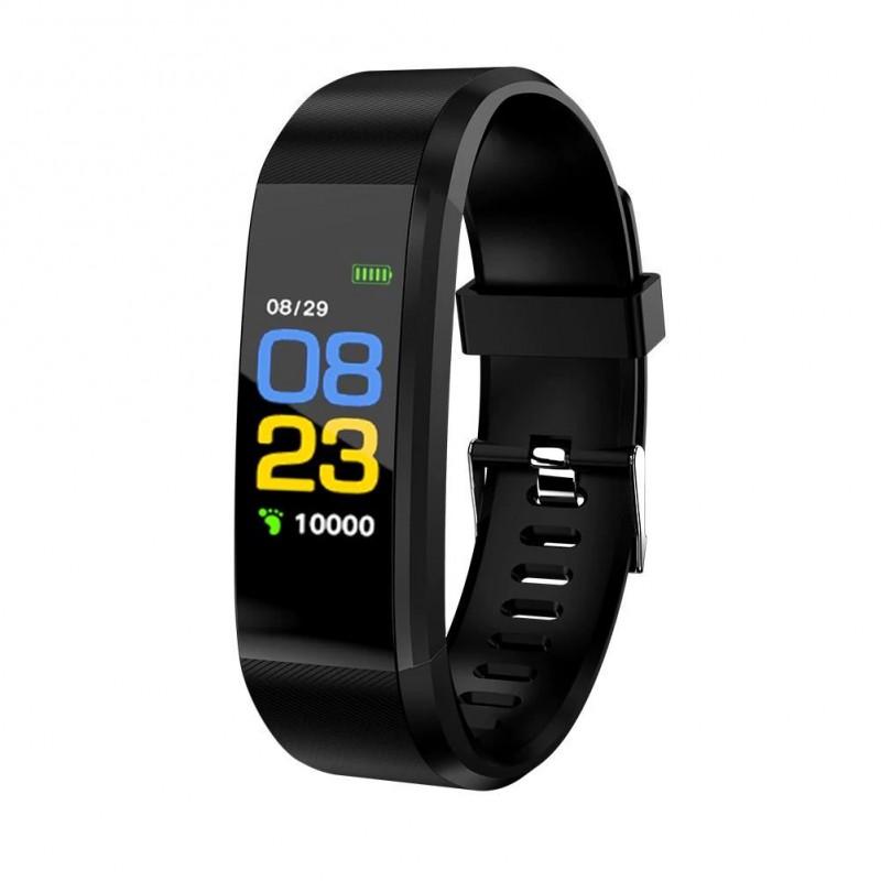 Bratara Fitness Siegbert, 80 mAh, Bluetooth 4.0, ritm cardiac, tensiunea arteriala, calorii, monitorizare somn 2021 shopu.ro