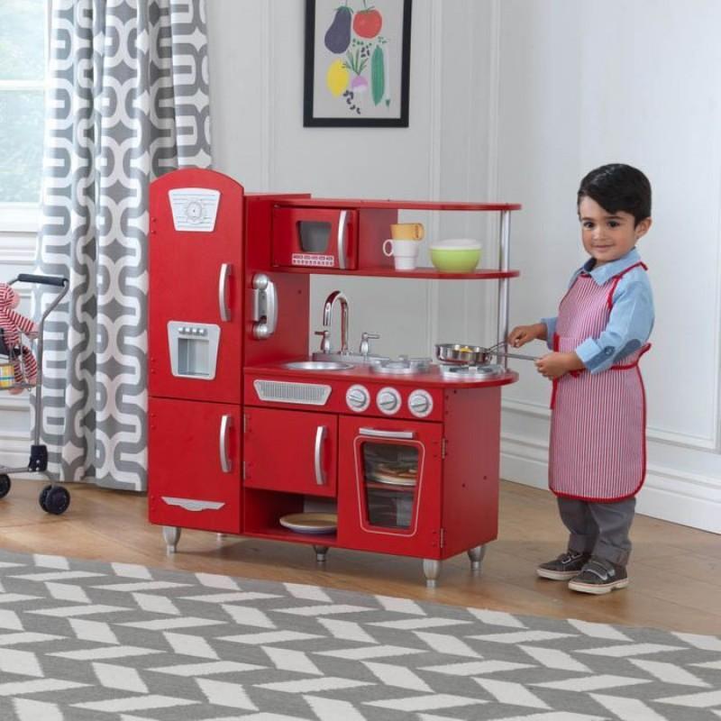 Bucatarie de jucarie Red Vintage Kidkraft, lemn, 3 ani+ 2021 shopu.ro