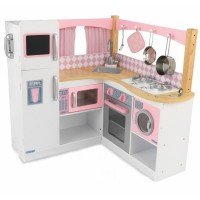 Bucatarie pentru copii Grand Gourmet, lemn si plastic, 3 ani+