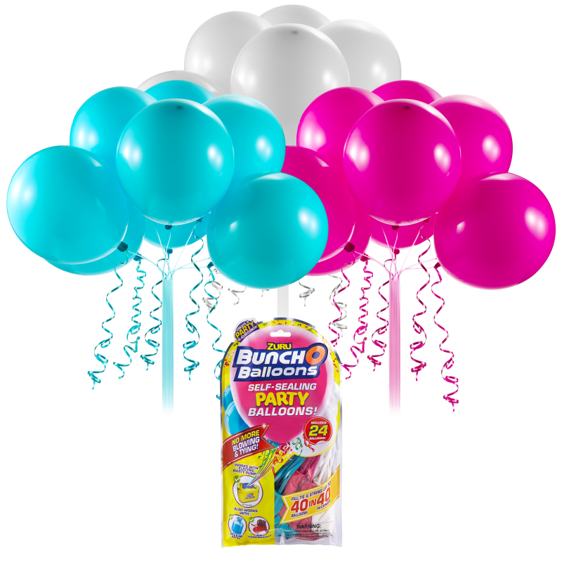 Set baloane Bunch O Ballons Party, 24 bucati, Roz/Bleu/Alb 2021 shopu.ro