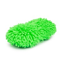 Burete cu microfibre, 260 x 130 x 60 mm, poliester, 2 fete, Verde