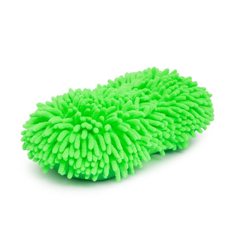 Burete cu microfibre, 260 x 130 x 60 mm, poliester, 2 fete, Verde 2021 shopu.ro