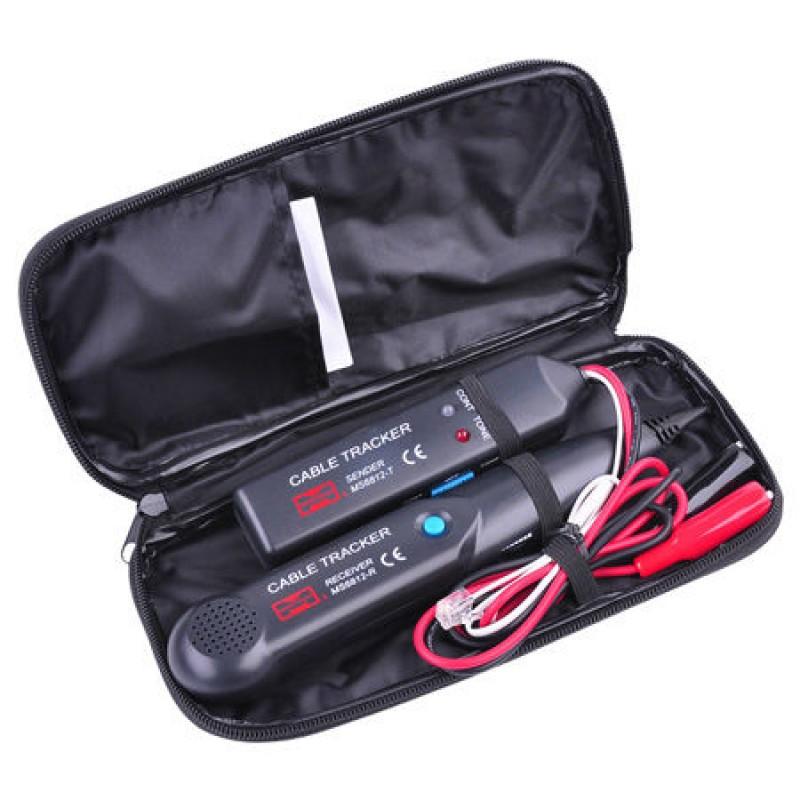 Cable tracker Mastech MS6812, baterie 9 V, transmitator/receptor incluse shopu.ro