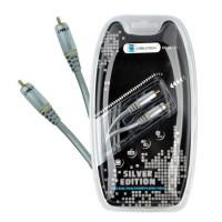 Cablu audio Cabletech 3 RCA - 3 RCA, 3 m, silver edition
