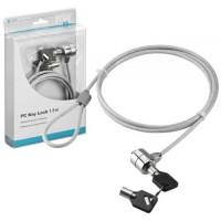 Cablu antifurt pentru laptopuri Goobay, 1.5 m, cheie inclusa