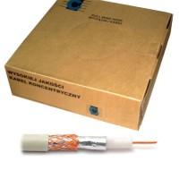 Cablu coaxial Cabletech cu RG59U, rola 200 m, alb