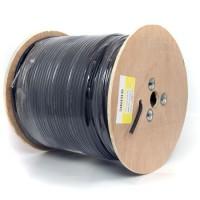 Cablu coaxial F690BV + gel negru, 305 m
