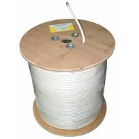 Cablu coaxial Cabletech, miez de cupru, ecran aluminiu, tambur 305 m