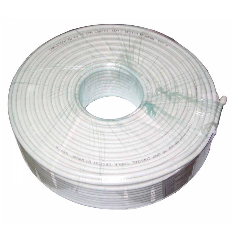Cablu coaxial Cabletech RG6U, cupru, rola 100 m, 1 mm 2021 shopu.ro