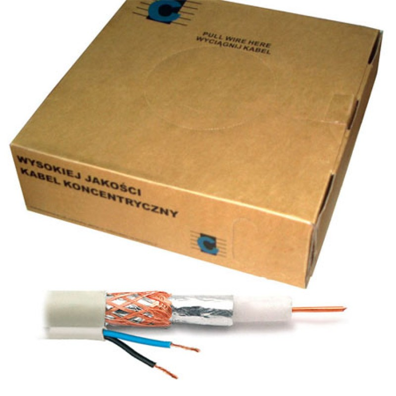 Cablu coaxial RG59 Cabletech, 2 x 0.5 mm, 100 m