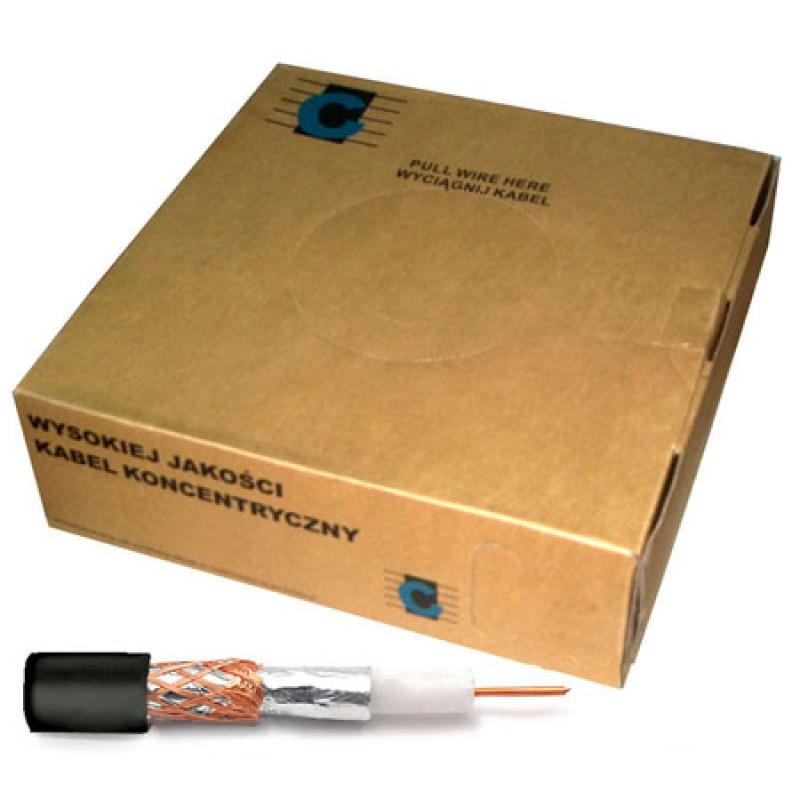 Cablu coaxial RG59, 200 m, 0.75 mm, Negru