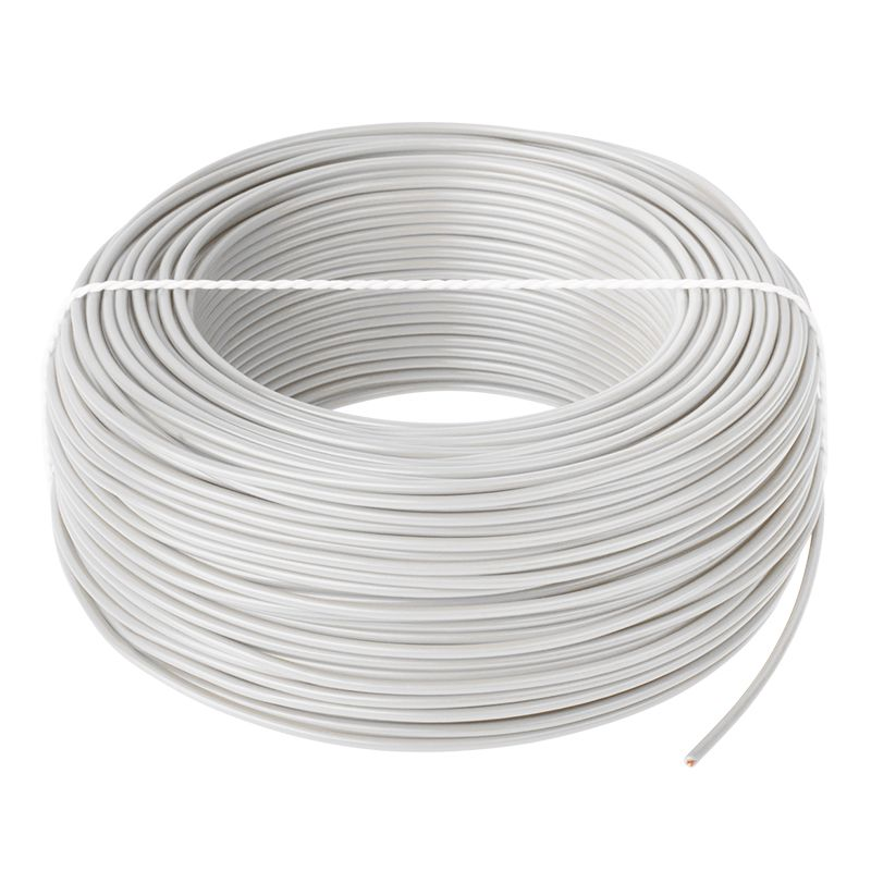 Cablu conductor LGY, H05V-K 1 x 1.0, rola 100 m, Alb