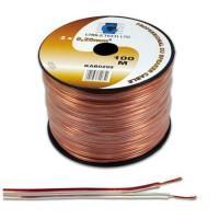 Cablu difuzor Cabletech, cupru, 0.75 mm, rola 100 m, transparent