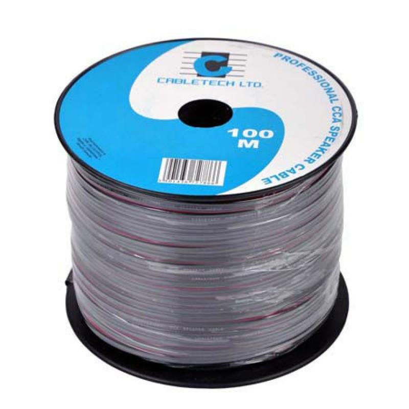 Cablu difuzor Cabletech, material CCA, 0.16 mm, rola 100 m, negru 2021 shopu.ro