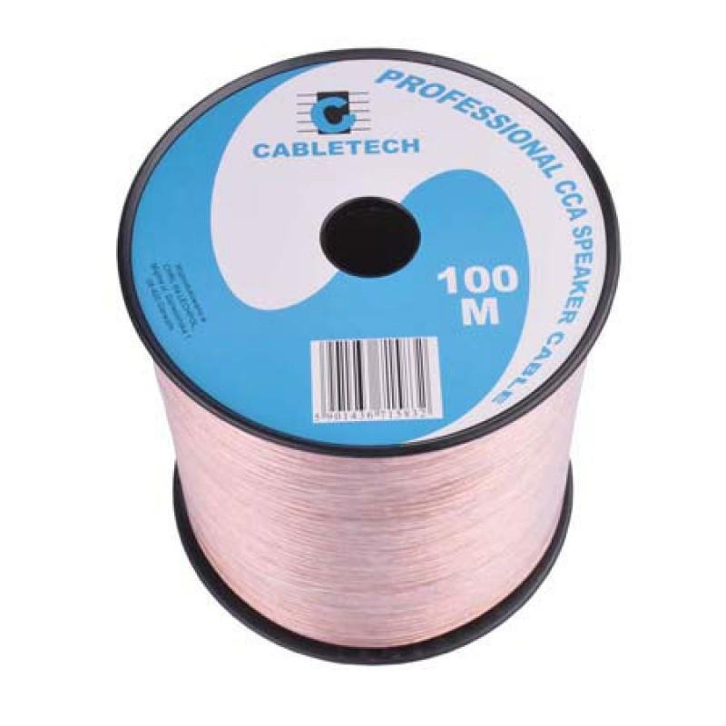 Cablu difuzor Cabletech, CCA, 0.2 mm, rola 100 m, transparent