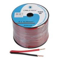 Cablu difuzor CCA, 2 x 0.35 mm², 100 m, Rosu/Negru