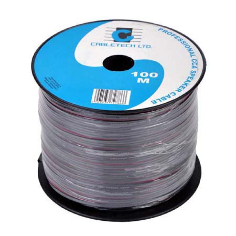 Cablu difuzor Cabletech, 0.5 mm, rola 100 m, negru 2021 shopu.ro